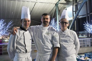 Le Chef Mickaël Wickaert et ses apprentis : Maxime & Quentin